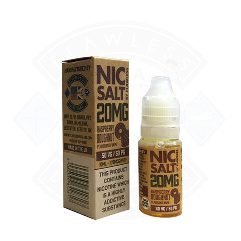 Vape Nic Salt E liquid Flawless Raspberry Doughnut