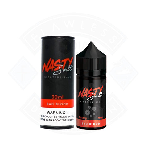 Vape Nic Salt E liquid Nasty Juice Bad Blood