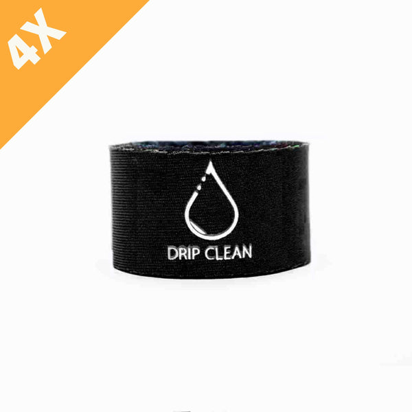 Black anti-drip bottle collar 4-pack | + 1 GRATIS