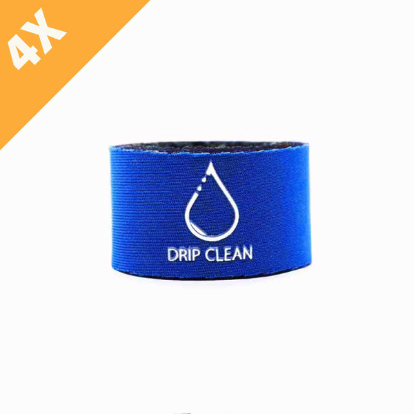 Blue anti-drip bottle collar 4-pack | + 1 GRATIS