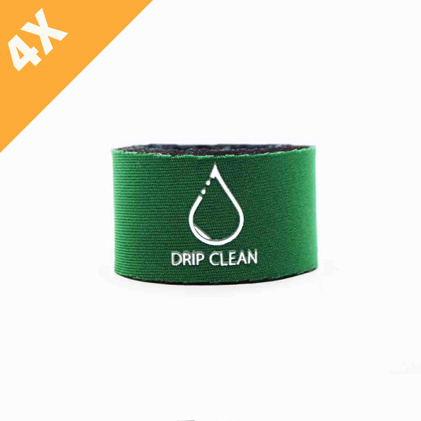 Green anti-drip bottle collar 4-pack | + 1 GRATIS