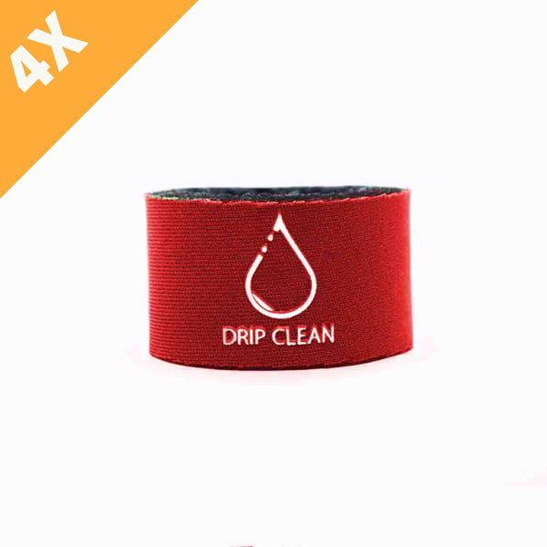 Red anti-drip bottle collar 4-pack | + 1 GRATIS