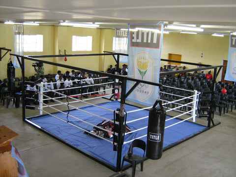 TITLE FREESTANDING FLOOR LEVEL BOXING RING: 5m:  FLR-5S