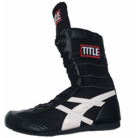 TITLE BOXING BOOTS BLACK: SIZE 4-12