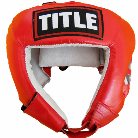 TITLE OPEN FACE HEADGEAR: RED