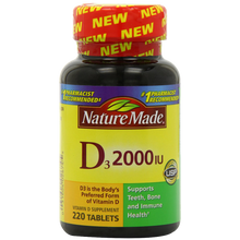 Nature Made Vitamin D3 2000 IU Value