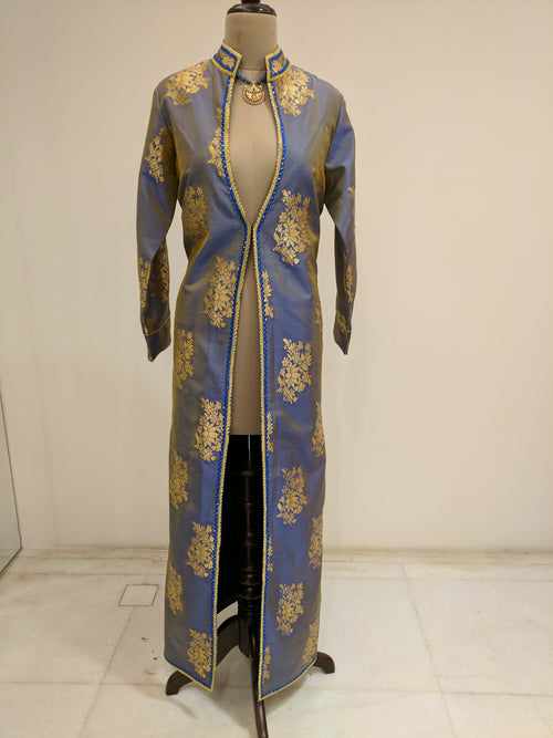Blue Ratna Long Jacket