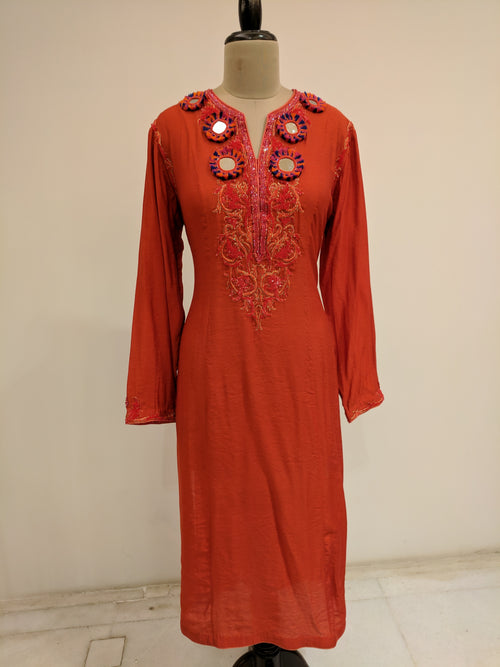 Burnt Orange Aayna Kurti