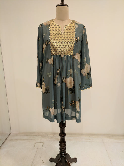 Sage Green Gulbagh Zeb Tunic