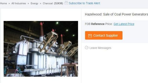 Victoria's Hazelwood power plant is up for grabs on online marketplace Alibaba