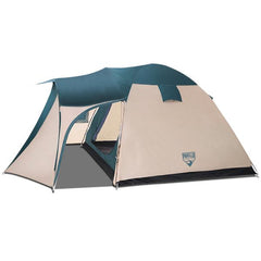 bestway-8-person-camping-dome-tent---green-and-cream-white