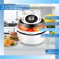 10L Air Fryer Roast Bake Grill Stir Fry Anti Slip Base