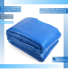 9.5m X 5m Swimming Pool Cover Bubble Blanket