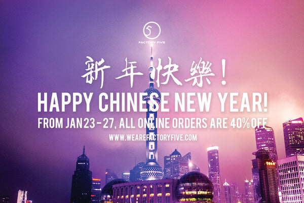 CNY SALE 40% OFF!