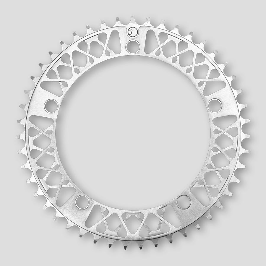 Black Factory Five F5 Lattice Anodized 47 Tooth Chainring