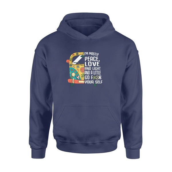 Teesgl-Store, I'm mostly peace, love and light and a little go f yourself,Standard Hoodie