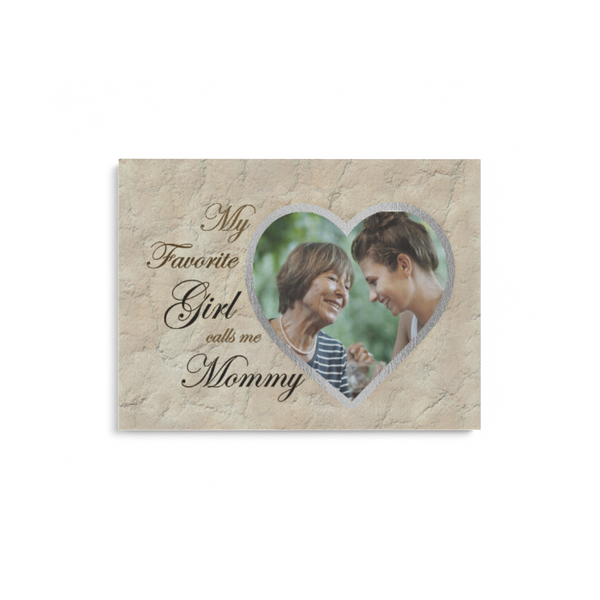 Teesgl-Store, Custom -  Image My Favorite Girl Calls me Mommy, Matte Canvas Landscape