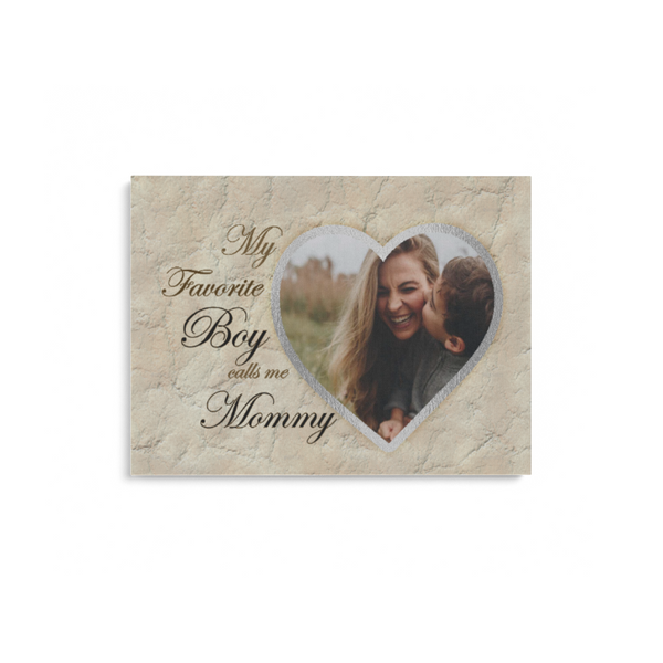Teesgl-Store,  Custom -  Image My Favorite Boy Calls me Mommy, Matte Canvas Landscape
