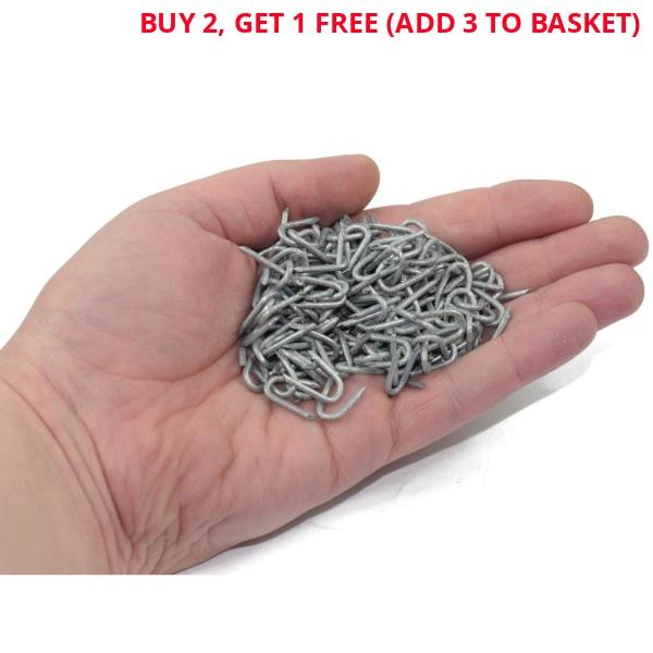 100g Electro Galvanised Staples Wire Netting U Nails 15mm x 1.6-Almec Products