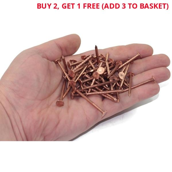 100g Copper Clout Nails 38mm x 2.65-Almec Products