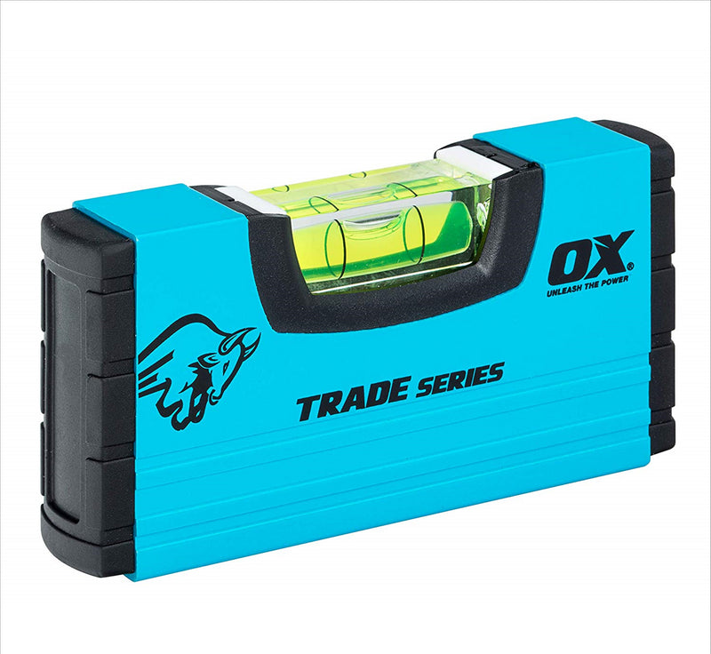 Ox Tools 100mm (4in) Pocket Small Stubby Box Profile Spirit Level OX-T502801