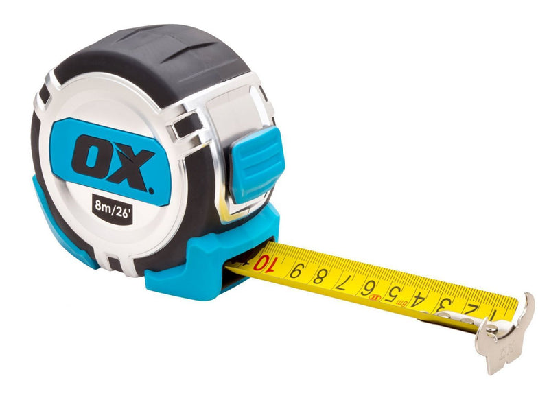 OX Pro Metric/Imperial 8m Tape Measure - HT02881-Almec Products