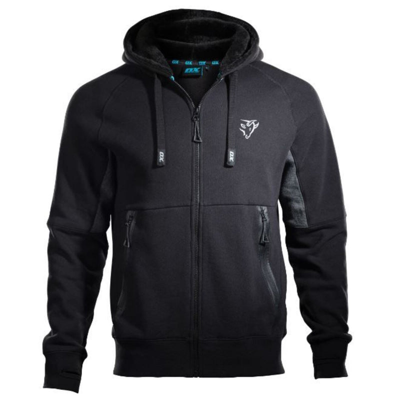 OX Zip Through Hoodie - Black/Grey - M-Almec Products