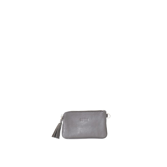 Anna Simple Zipper Pouch Grey