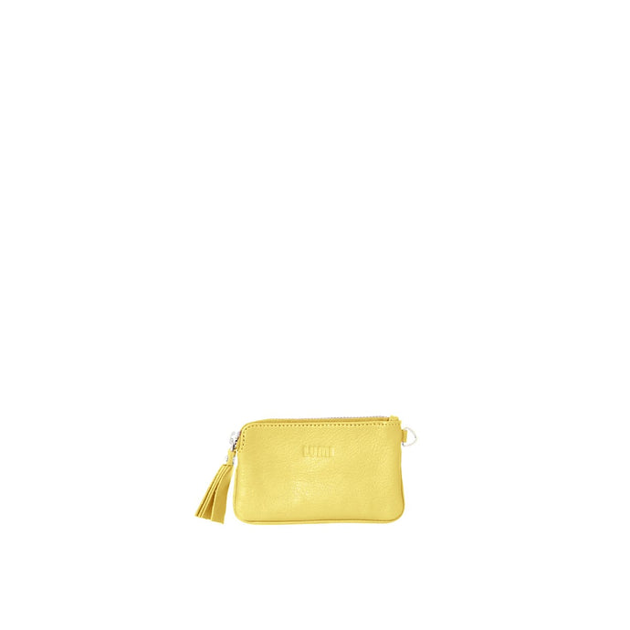 Anna Simple Zipper Pouch Light Yellow