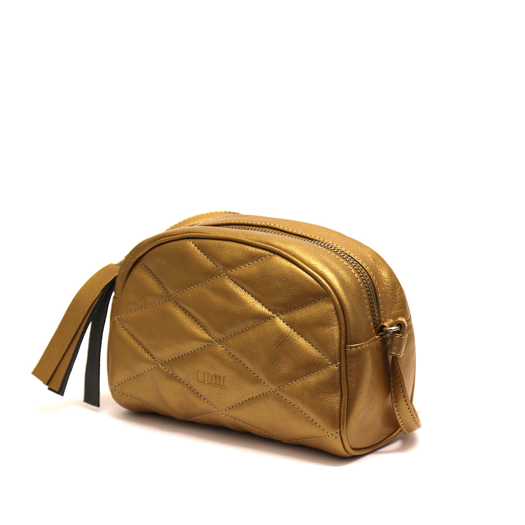Ebba Quilted Crossbody Gold