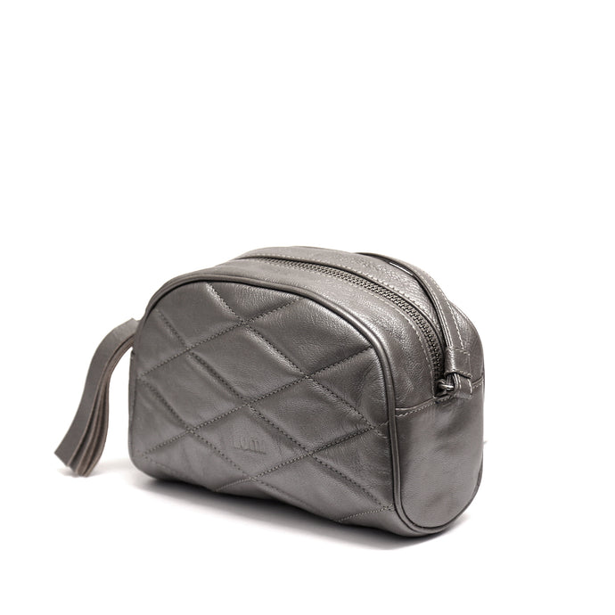 Ebba Quilted Crossbody Silver