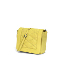 Elli Quilted Flap Crossbody Yellow