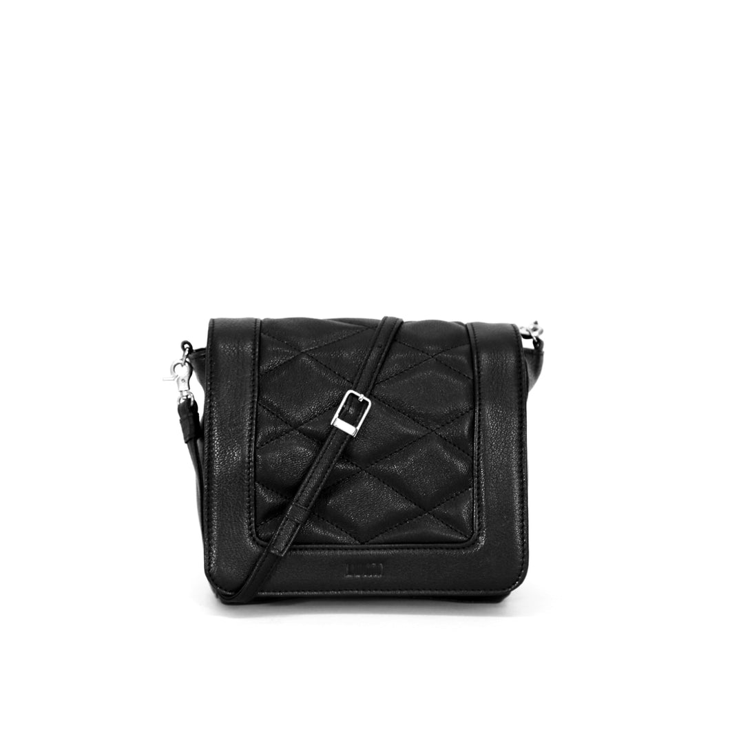 Elli Quilted Flap Crossbody Black