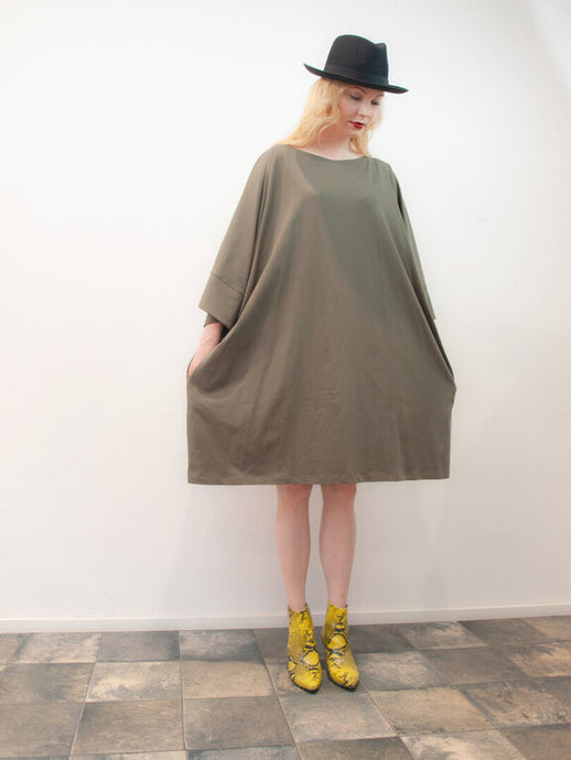 Mademoiselle Mou Petit Dress, Forest Soul Green