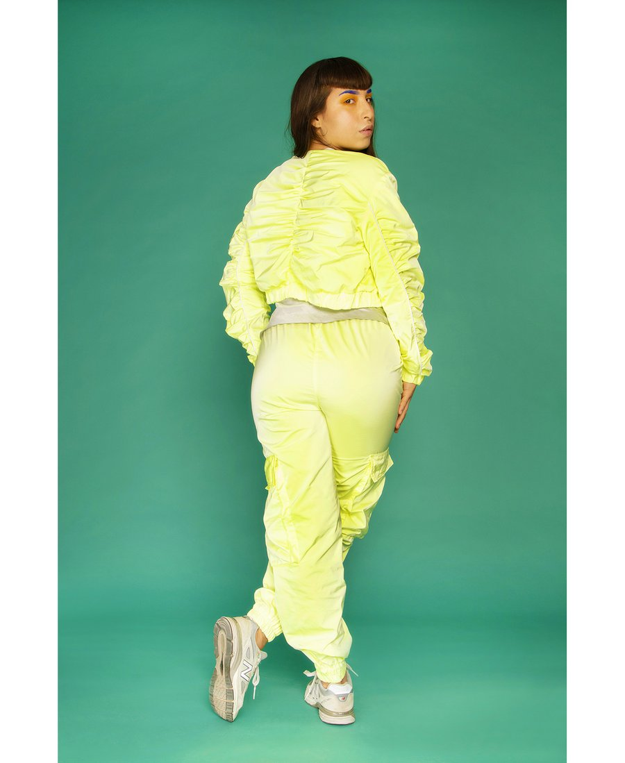 Juicy Cropped Jacket Glowing Yellow