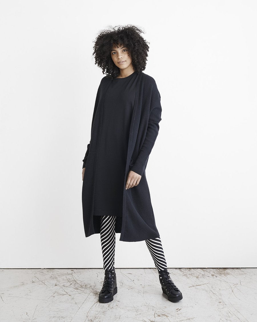 LONG SPLIT-neuletakki, Black