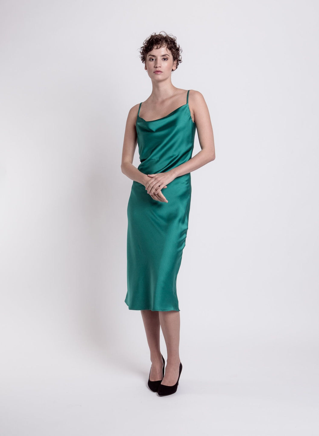 Wave Cocktail dress, green