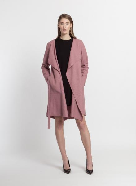 Caron wool coat, Rosa and Grey