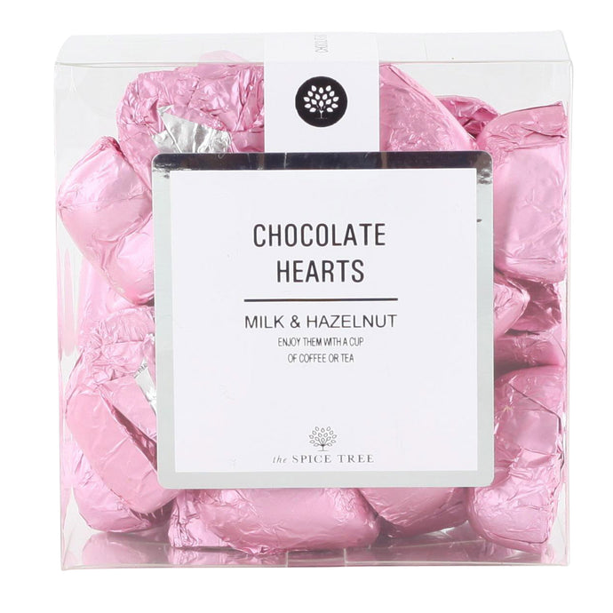 Milk Chocolate Hearts Pink 200g
