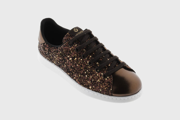 Glitter Tennis Shoes, Bronce