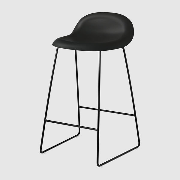 3D Counter Stool - Un-Upholstered, 65, Sledge Base