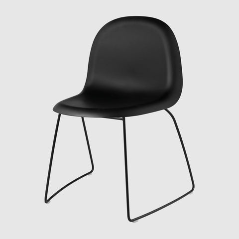3D Dining Chair - Un-upholstered - Sledge base, Stackable