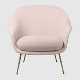 Bat Lounge Chair - Fully Upholstered, Low back, Conic base