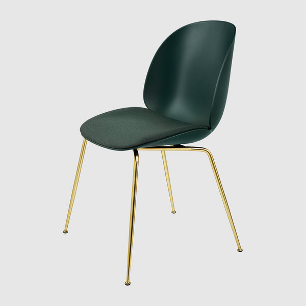 Beetle Dining Chair Seat Upholstered Conic Base Gubi