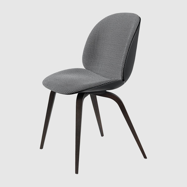 Beetle Dining Chair - Front Upholstered - Wood base
