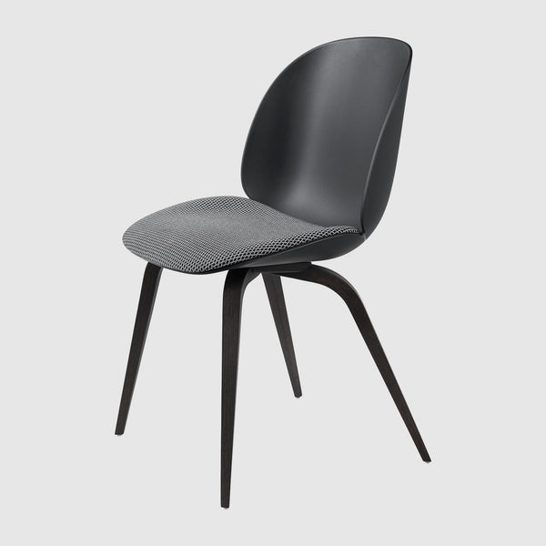 Beetle Dining Chair - Seat Upholstered - Wood base