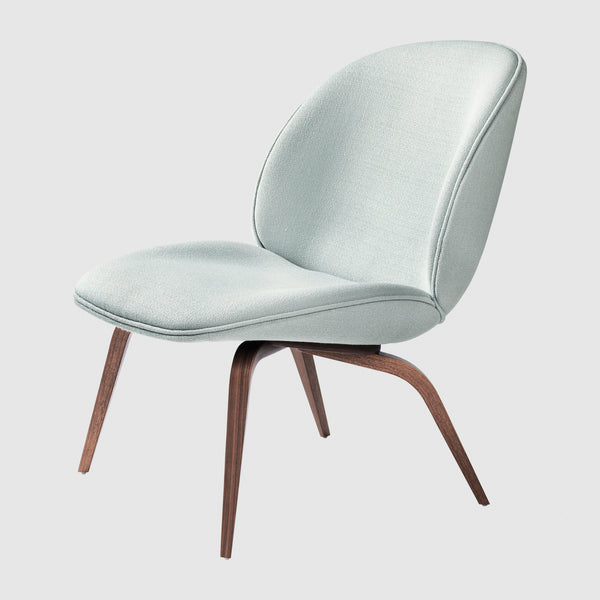 Beetle Lounge Chair Fully Upholstered Wood Base Gubi