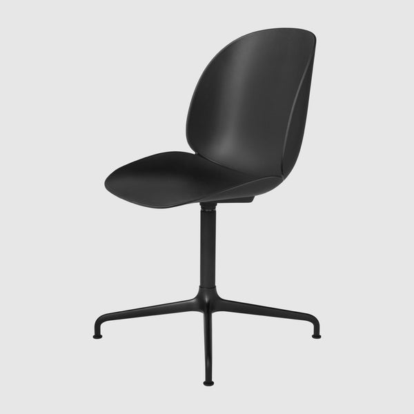 Beetle Meeting Chair - Un-upholstered, 4-Star Swivel Base