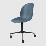 Beetle Meeting Chair - Un-Upholstered, 4-Star W. Castors