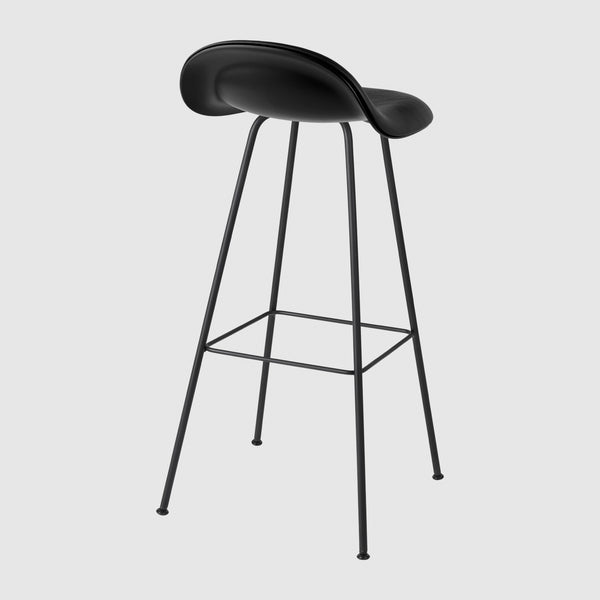 3D Bar Stool - Front Upholstered - 75 cm - Center base